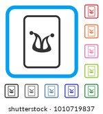 joker gaming card icon. flat...