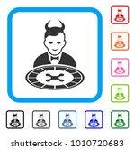 devil roulette dealer icon.... | Shutterstock .eps vector #1010720683