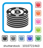 bitcoin casino chips icon. flat ...