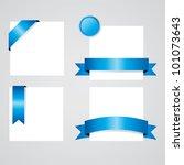ribbons set. | Shutterstock .eps vector #101073643