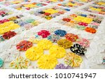 several pieces of fuxico sewn... | Shutterstock . vector #1010741947