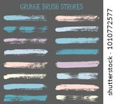 modern watercolor daubs set ... | Shutterstock .eps vector #1010772577