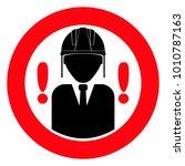 construction helmet  red round...   Shutterstock .eps vector #1010787163