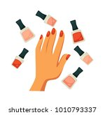 bottles of nude and classic red ... | Shutterstock .eps vector #1010793337