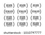 movie award best male actor... | Shutterstock .eps vector #1010797777