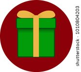 gift box with ribbon and bow.... | Shutterstock .eps vector #1010804203