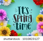 it's spring time text vector... | Shutterstock .eps vector #1010823127