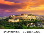 acropolis with parthenon. view... | Shutterstock . vector #1010846203