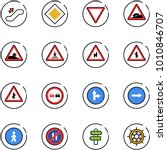 line vector icon set  ... | Shutterstock .eps vector #1010846707