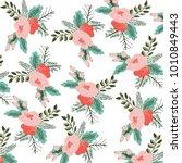 flower illustration pattern | Shutterstock .eps vector #1010849443