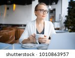 young caucasian business woman... | Shutterstock . vector #1010863957