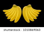 banana bunch. vector realistic... | Shutterstock .eps vector #1010869063