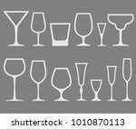 set of white vector empty... | Shutterstock .eps vector #1010870113