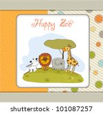 happy zoo | Shutterstock .eps vector #101087257