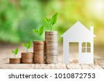 house paper model and tree...   Shutterstock . vector #1010872753