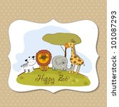 happy zoo | Shutterstock .eps vector #101087293