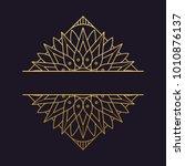 mandala   vector logo icon... | Shutterstock .eps vector #1010876137