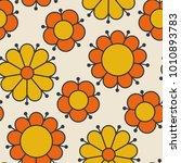retro orange and yellow color...   Shutterstock .eps vector #1010893783