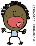 cartoon shouting doodle man | Shutterstock . vector #101090617