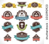 vintage labels and ribbons set. ... | Shutterstock .eps vector #101090923