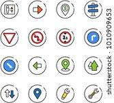line vector icon set   elevator ... | Shutterstock .eps vector #1010909653