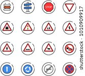 line vector icon set   sign... | Shutterstock .eps vector #1010909917