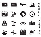 solid black vector icon set  ... | Shutterstock .eps vector #1010918737