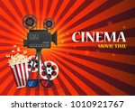 cinema background or banner.... | Shutterstock .eps vector #1010921767