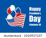 happy presidents' day vector....   Shutterstock .eps vector #1010927107