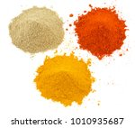 indian heap of colourful spices ... | Shutterstock . vector #1010935687