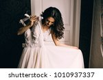 bride's portrait. the girl the...   Shutterstock . vector #1010937337