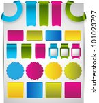 web page stickers labels badges   Shutterstock .eps vector #101093797