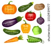 set of vegetables labels with... | Shutterstock . vector #1010939977