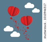 paper style love of valentine... | Shutterstock .eps vector #1010946517