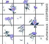 summer grid seamless pattern... | Shutterstock .eps vector #1010958643