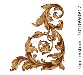 gold vintage baroque ornament... | Shutterstock .eps vector #1010960917