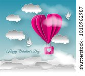 valentine's day illustration.... | Shutterstock . vector #1010962987