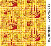 pattern. background texture.... | Shutterstock .eps vector #1010967163