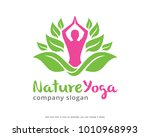 nature yoga logo template... | Shutterstock .eps vector #1010968993