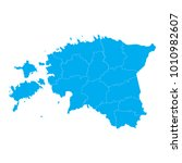 blue map of estonia