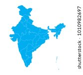 blue map of india | Shutterstock .eps vector #1010982697