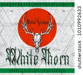 """white thorn"" gothic typeface.... | Shutterstock .eps vector #1010992633"