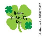 happy saint patricks day... | Shutterstock .eps vector #1010996407