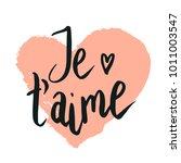happy valentine lettering je t... | Shutterstock .eps vector #1011003547