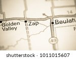 zap. north dakota. usa on a map. | Shutterstock . vector #1011015607