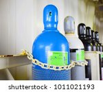 pressure cylinder lined keep in ... | Shutterstock . vector #1011021193