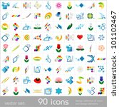 design elements. icons set.... | Shutterstock .eps vector #101102467
