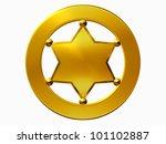 blank sheriff badge in gold | Shutterstock . vector #101102887