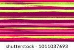watercolor dry brush stripes in ... | Shutterstock .eps vector #1011037693