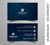 abstract business card template ... | Shutterstock .eps vector #1011056347